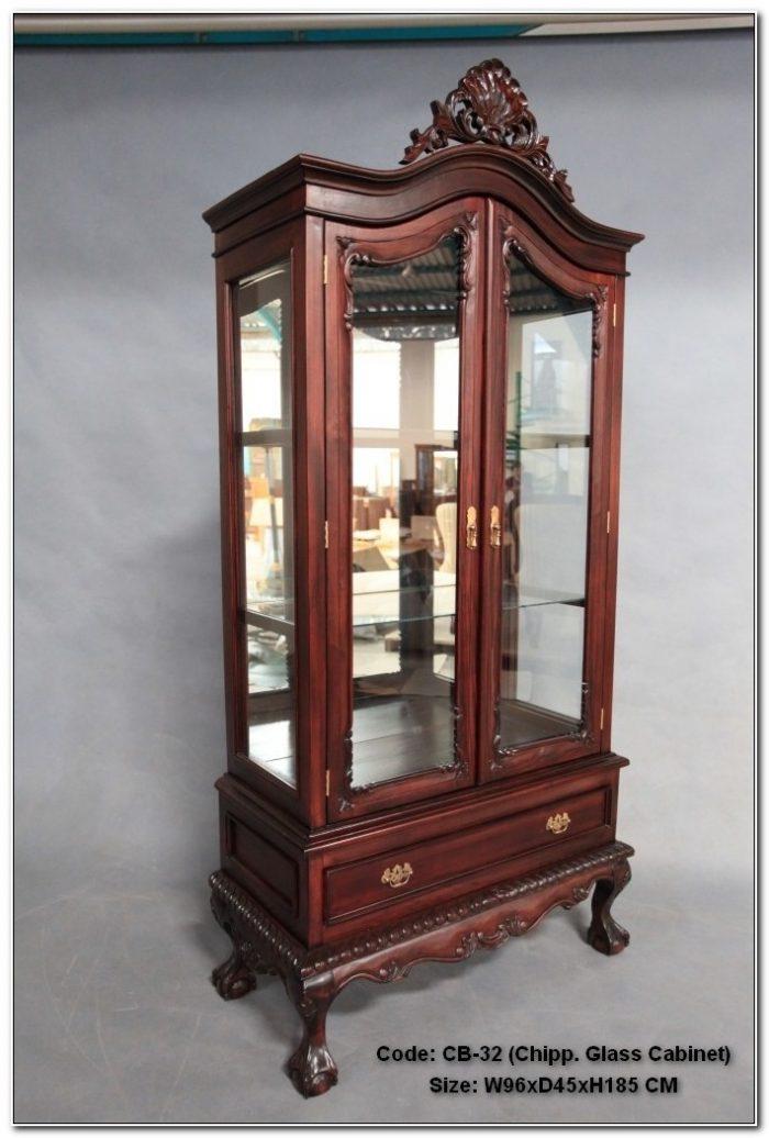 Mahogany Glass Display Cabinet