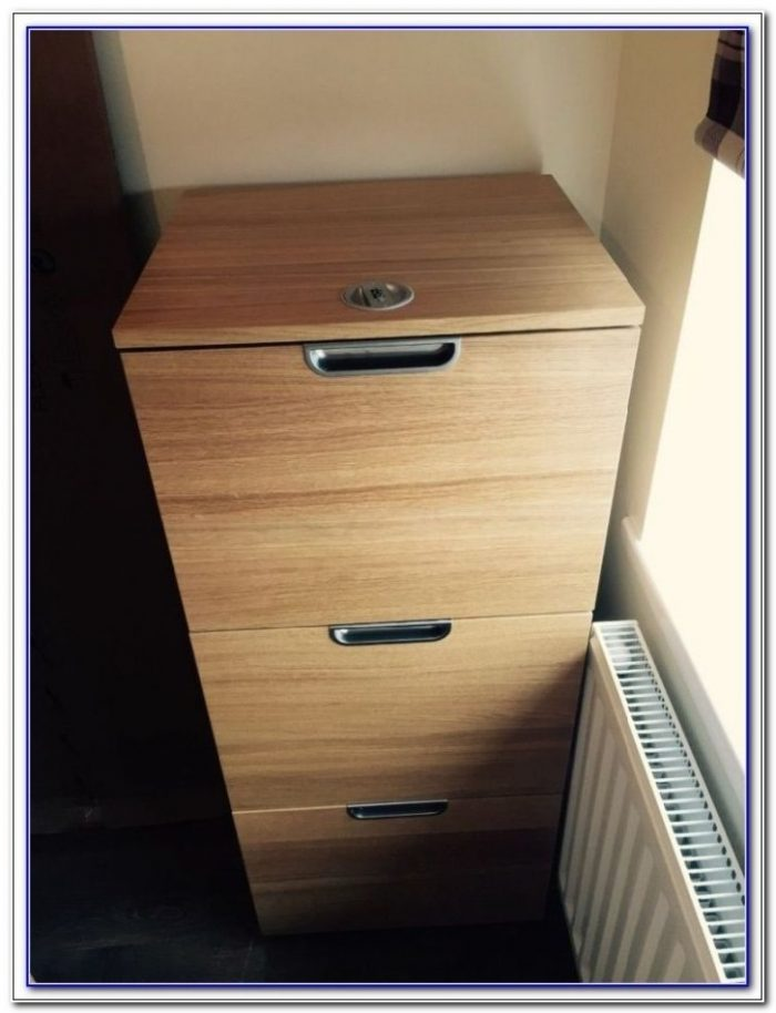 Malibu 3 Drawer Filing Cabinet Oak Effect