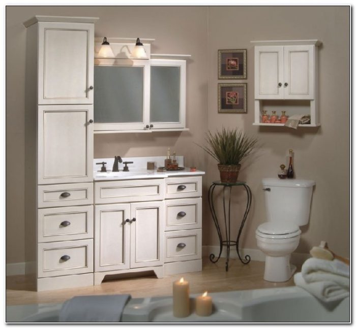 Matching Bathroom Vanity And Linen Cabinet