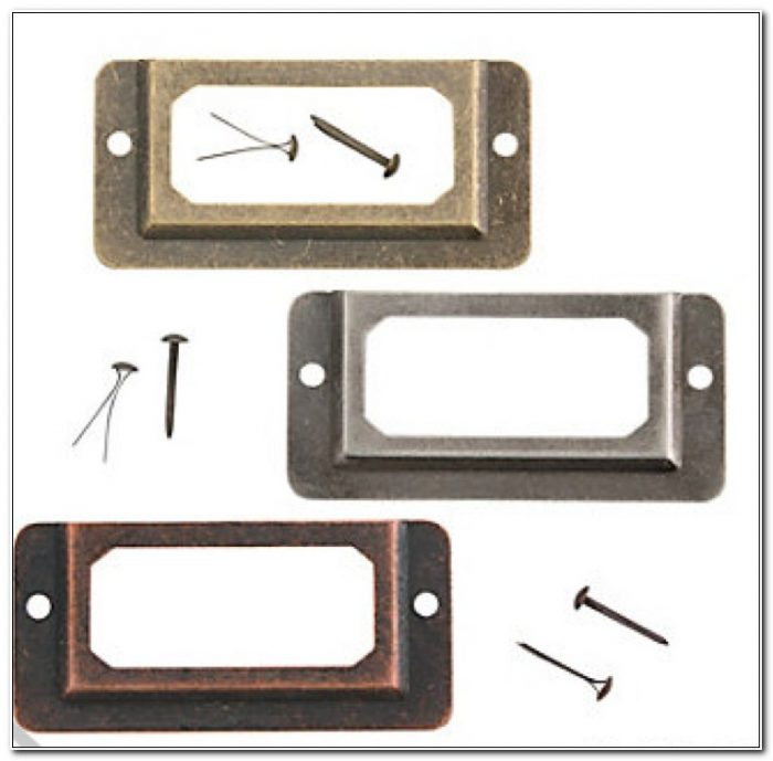 Metal Label Holders For Drawers