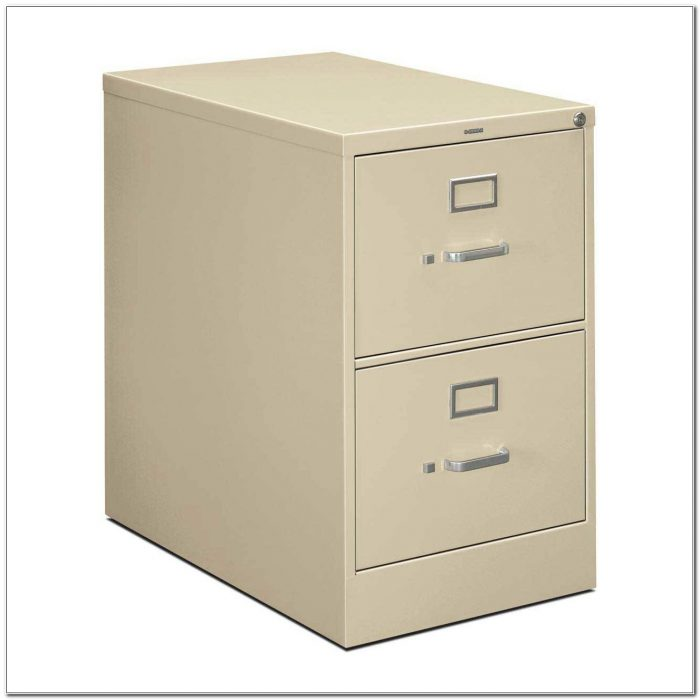 Metal Two Drawer Filing Cabinet