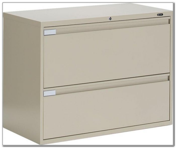 Metal Two Drawer Lateral Filing Cabinet