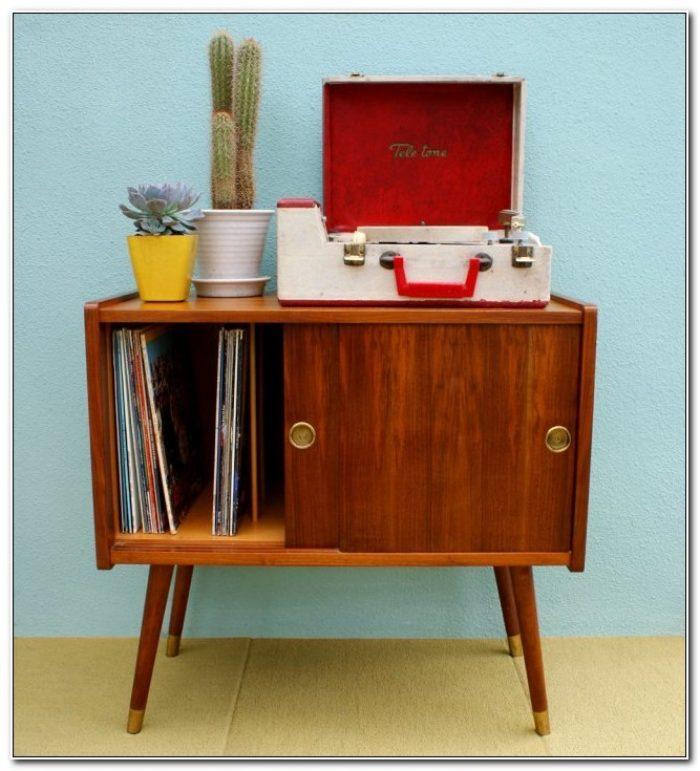 Mid Century Danish Record Cabinet