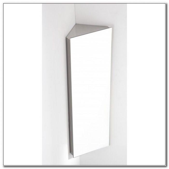 Mirrored Corner Tall Bathroom Cabinet