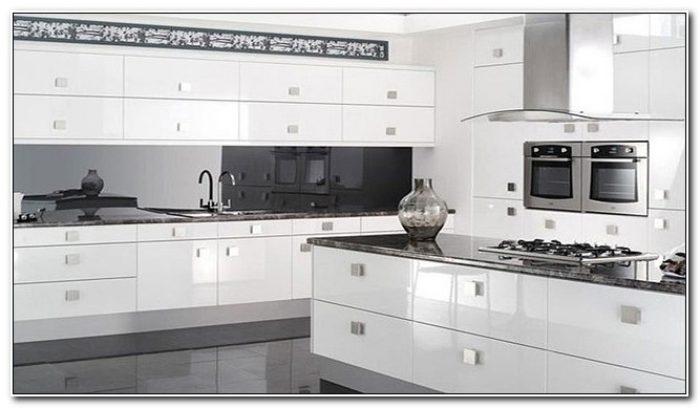 Modern White Gloss Kitchen Cabinets Cabinet Home Design