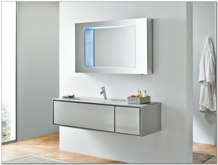 Narrow Depth Bathroom Wall Cabinet