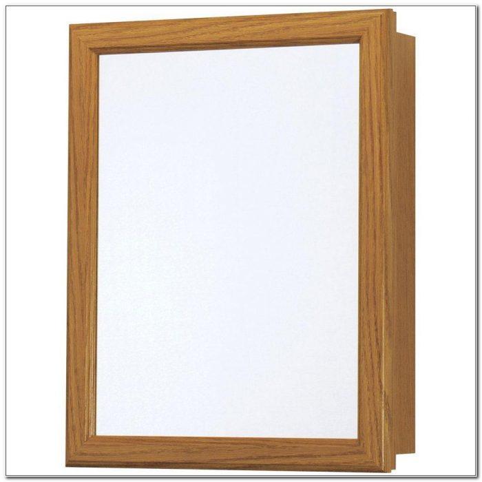 Oak Framed Recessed Medicine Cabinets
