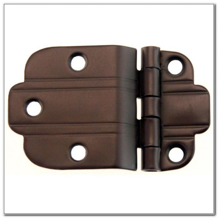 Oil Rubbed Bronze Surface Mount Cabinet Hinges