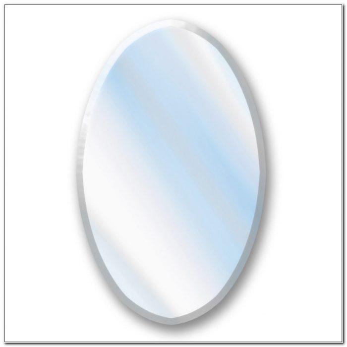 Oval Beveled Mirror Medicine Cabinet