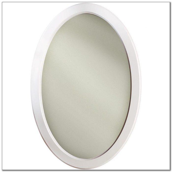 Oval Recessed Medicine Cabinet Mirror