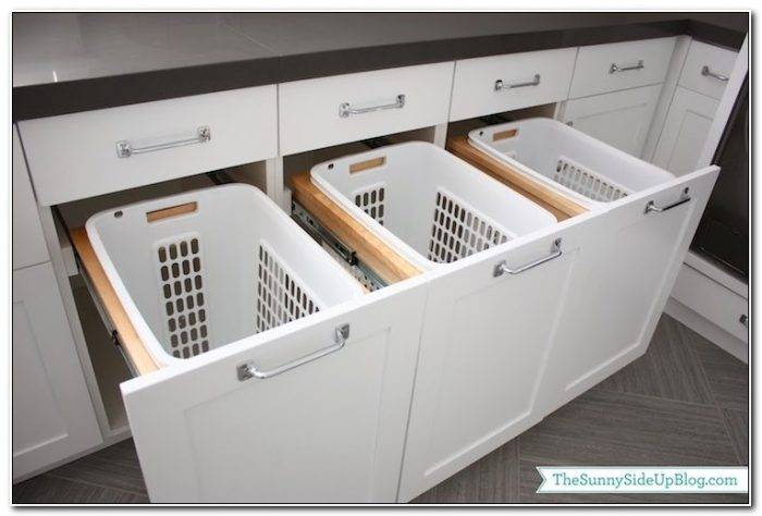 Pull Out Hamper Cabinet