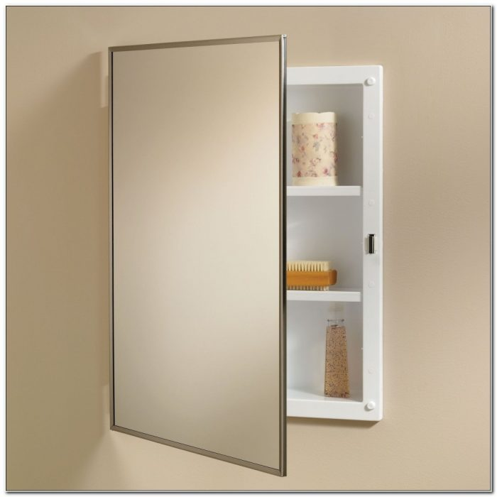 Recessed Bathroom Medicine Cabinet With Mirror
