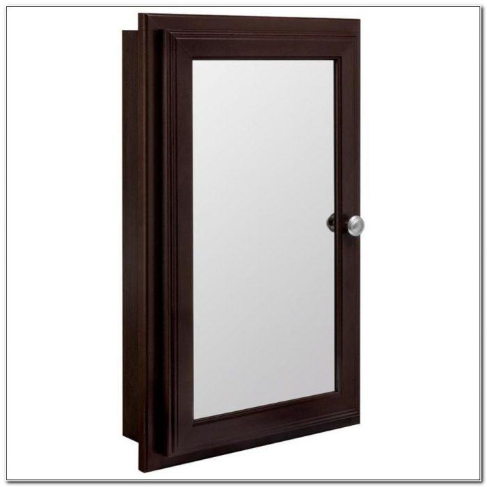 Recessed Medicine Cabinet Mirror Wood