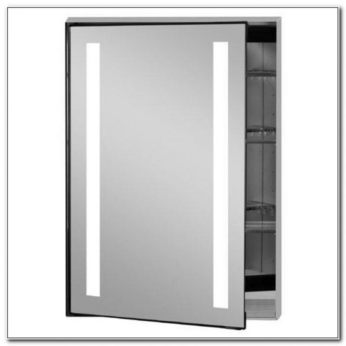 Recessed Medicine Cabinet With Led