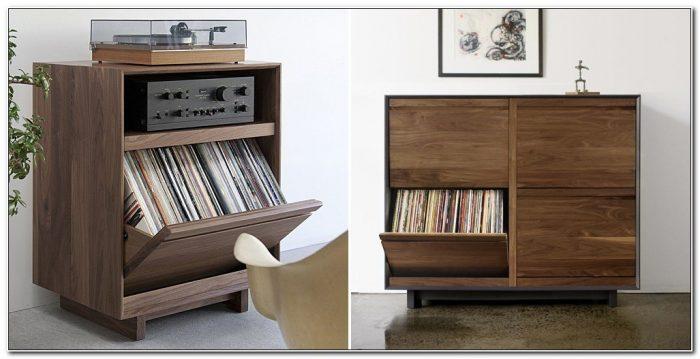 Record Album Storage Cabinet