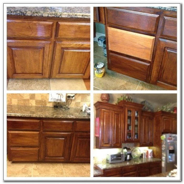 Refinishing Kitchen Cabinets With Gel Stain