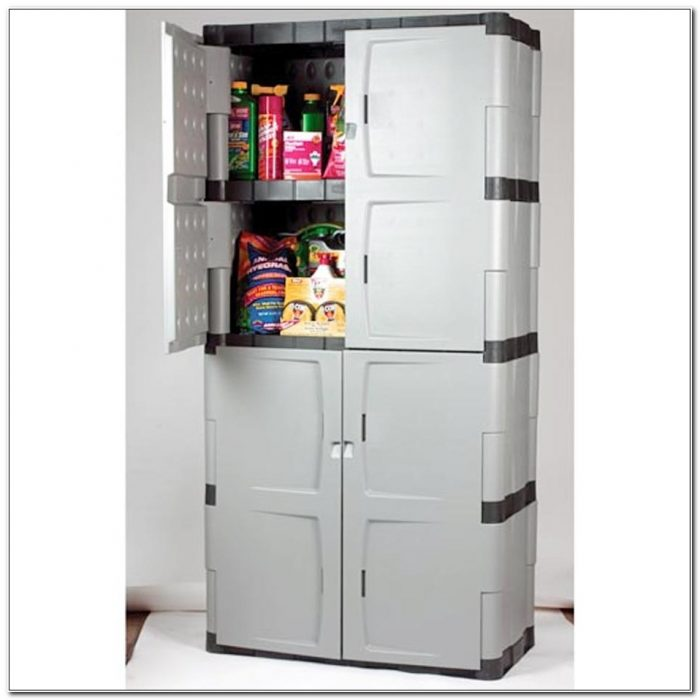 Rubbermaid Storage Cabinet With Doors And Shelves