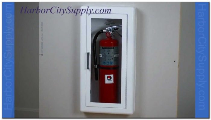 Semi Recessed Fire Extinguisher Cabinet Larsen