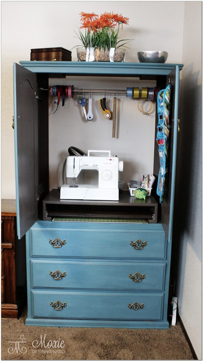 Sewing Machine Armoire Cabinet