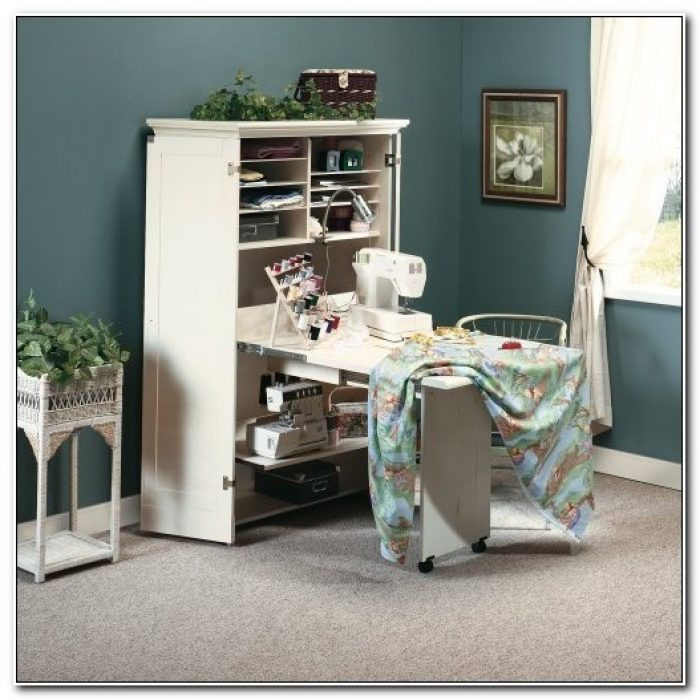 Sewing Machine Cabinet Storage Armoire Organizer