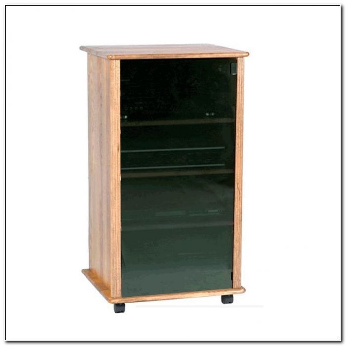 Small Audio Cabinet With Glass Doors