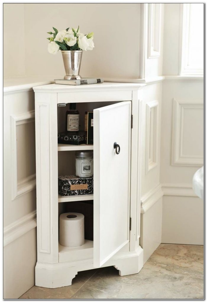 Small Corner Bathroom Cabinet