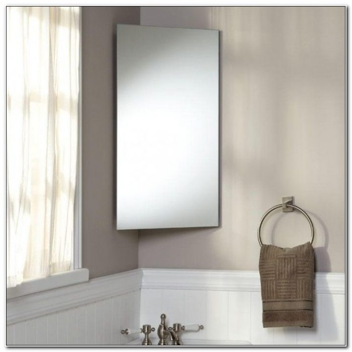 Small Corner Bathroom Cabinet With Mirror