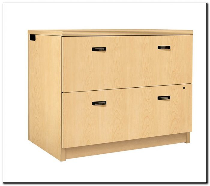 Small Maple Lateral File Cabinet