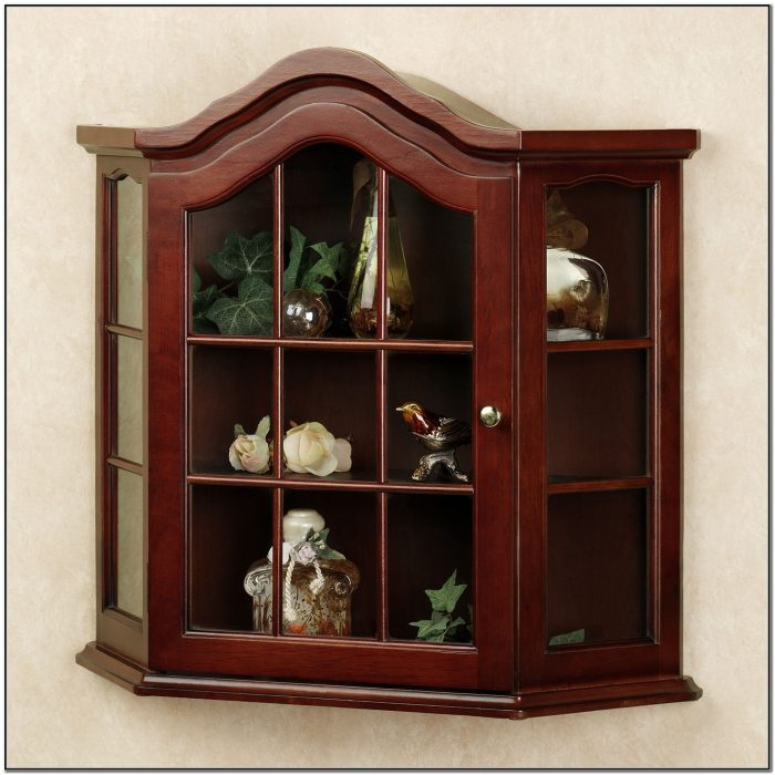Small Wall Curio Cabinet With Glass Doors