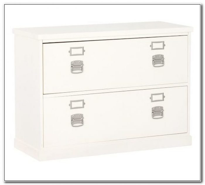 Small White Lateral File Cabinet