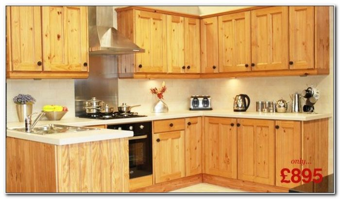 Solid Wood Kitchen Cabinets Pine