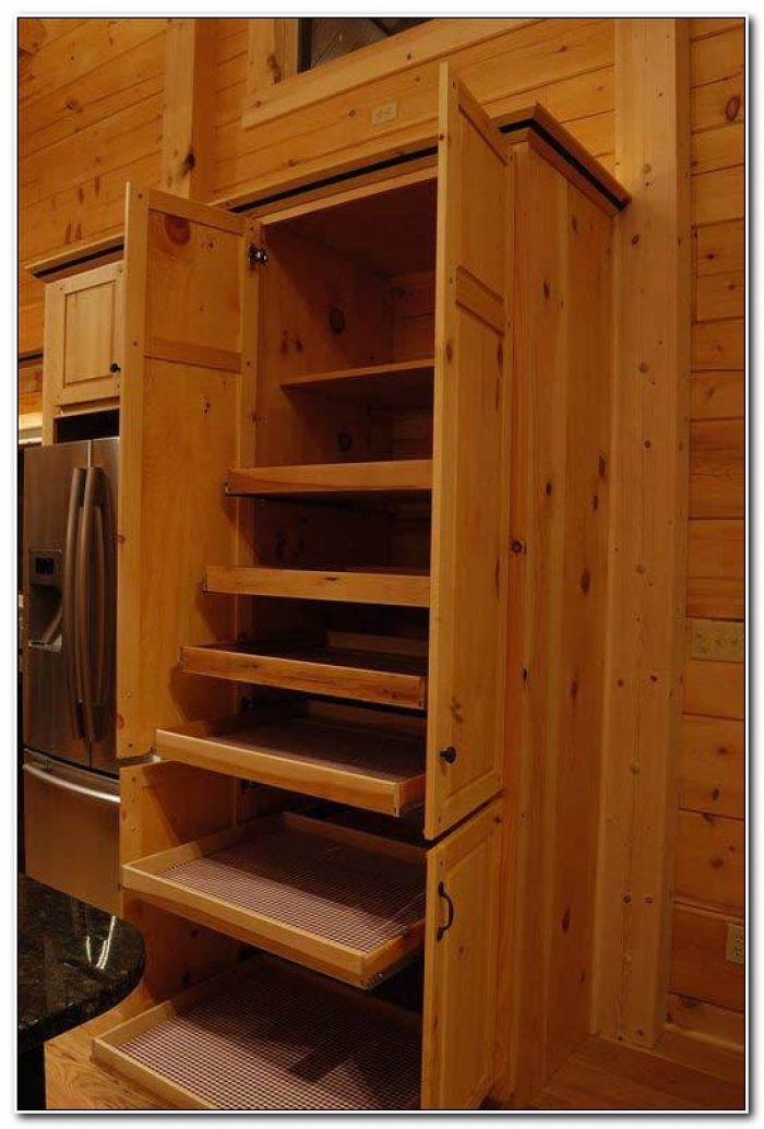 Solid Wood Pantry Cupboard