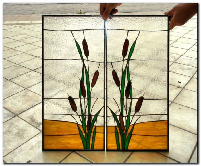 Stained Glass Kitchen Cabinet Door Panels