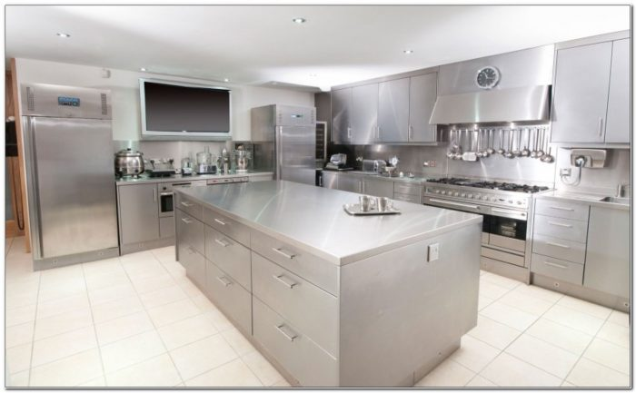 Stainless Steel Cabinets And Countertops