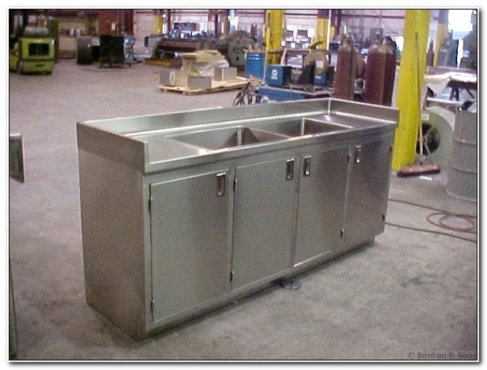 Stainless Steel Kitchen Sink Cabinet