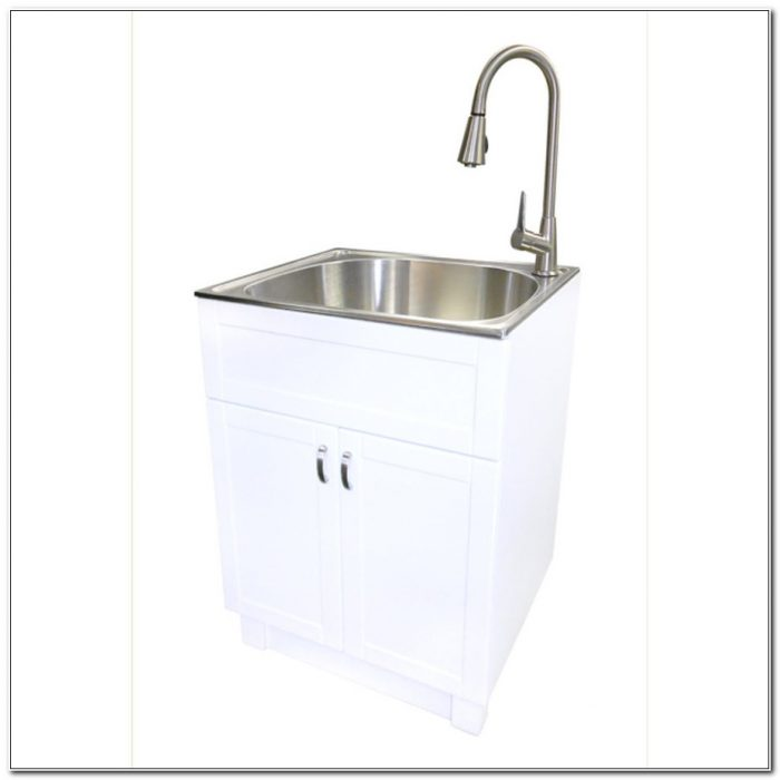 Stainless Steel Laundry Cabinet With China Sink