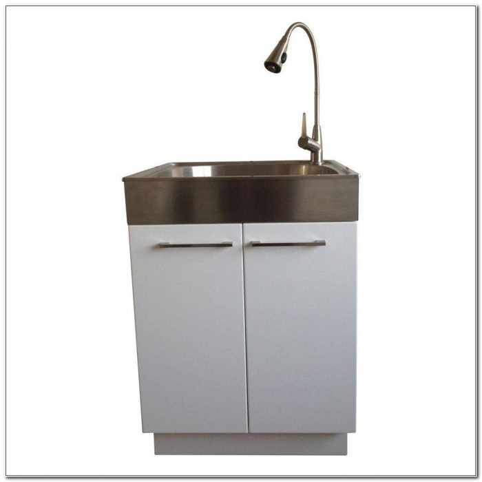 Stainless Steel Laundry Tub With Cabinet
