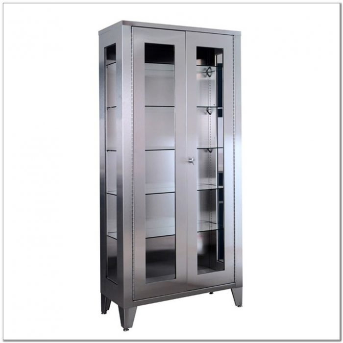 Stainless Steel Medical Supply Cabinet