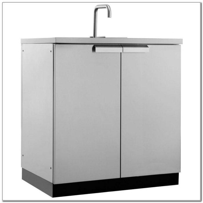 Stainless Steel Outdoor Sink With Cabinet