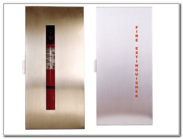 Stainless Steel Recessed Fire Extinguisher Cabinets