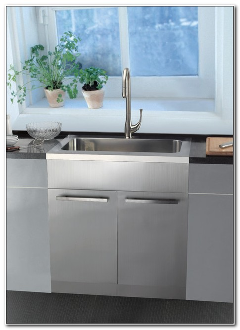 Stainless Steel Sink Base Cabinet