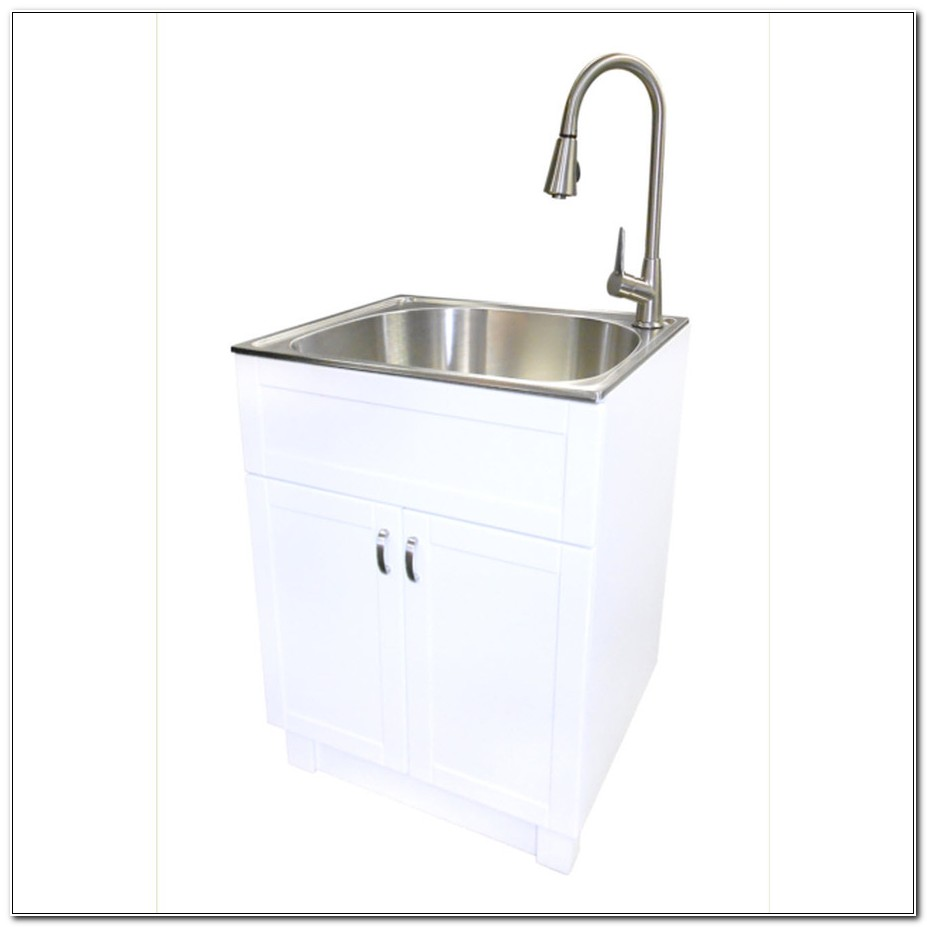 Stainless Steel Utility Sink And Cabinet
