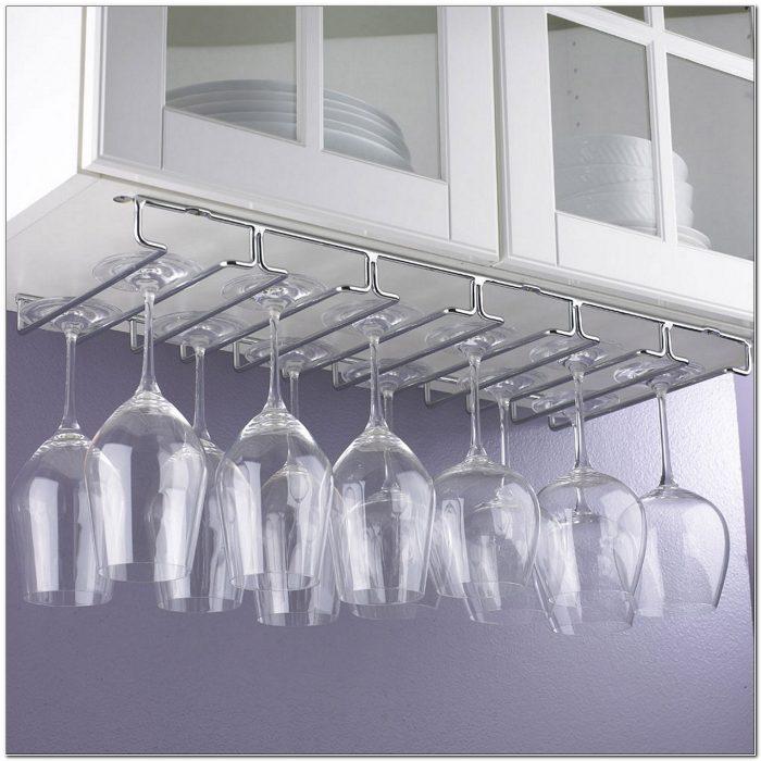 Stemware Glass Holder Under Cabinet