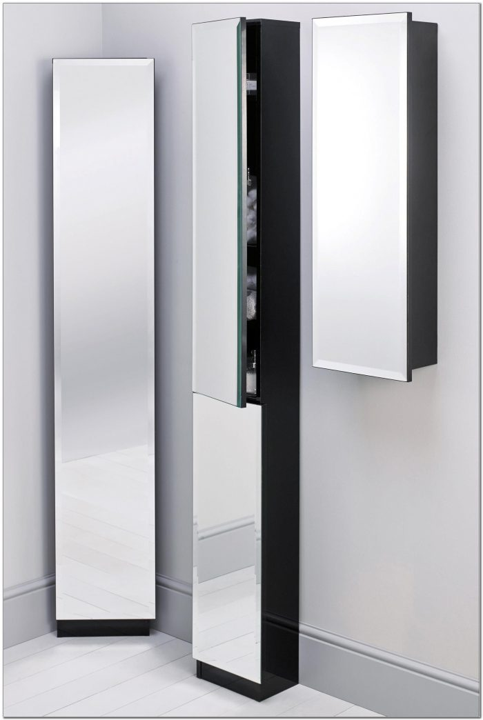 Tall Bathroom Corner Cabinets With Mirror