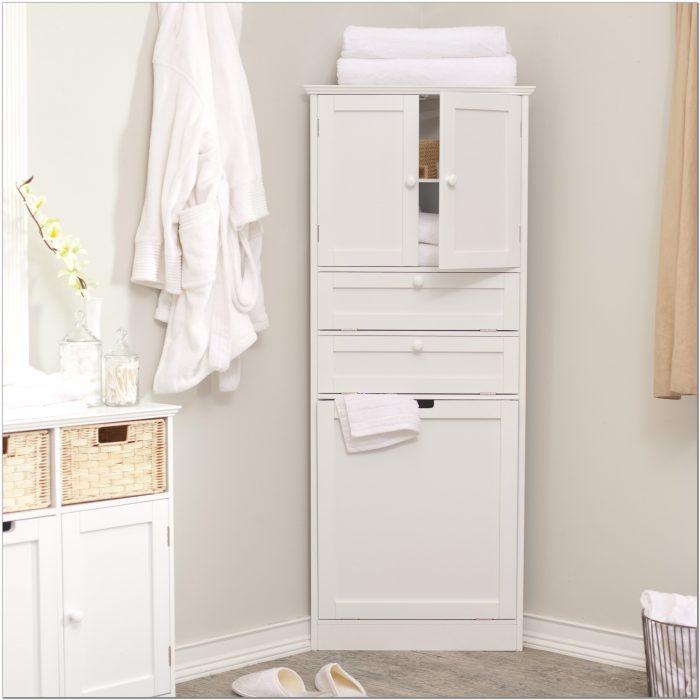 Tall Corner Bathroom Cabinet White