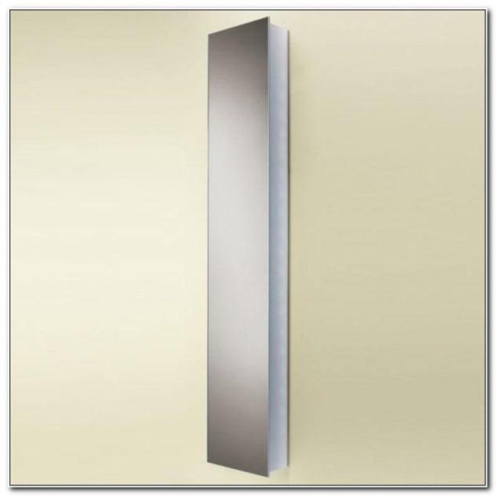 Tall Mirror Bathroom Cabinet White