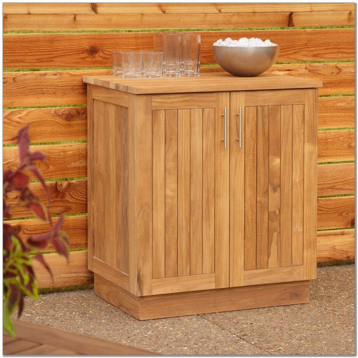 Teak Outdoor Storage Cabinet