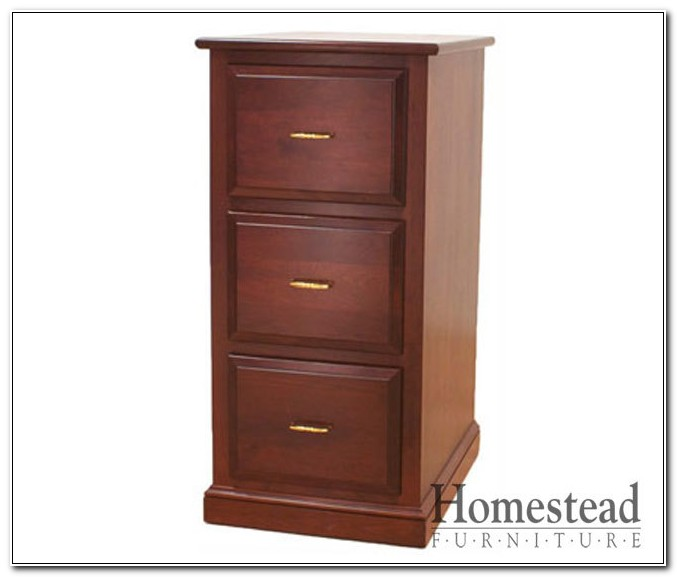 Three Drawer Filing Cabinet Wood