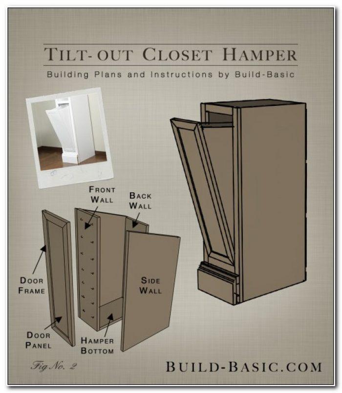 Tilt Out Hamper Cabinet Plans