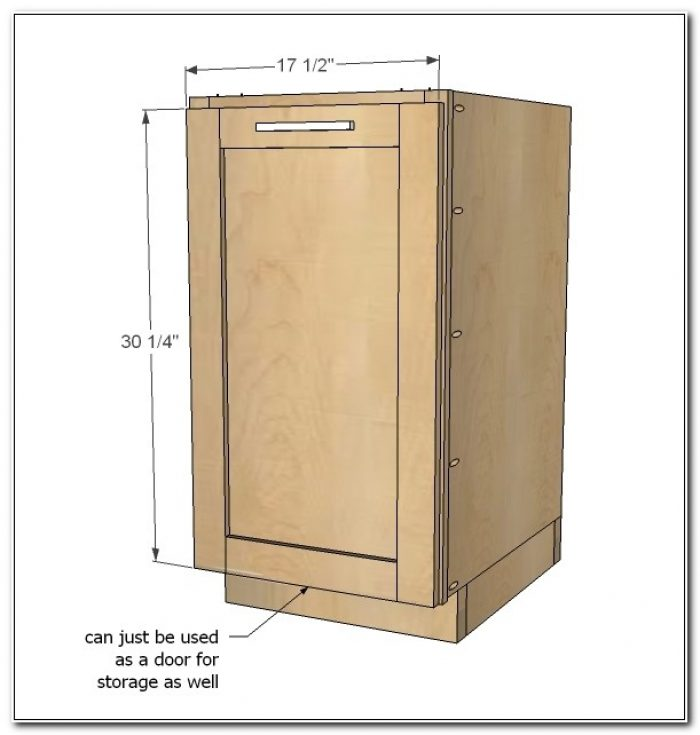 Trash Pull Out Cabinet Size